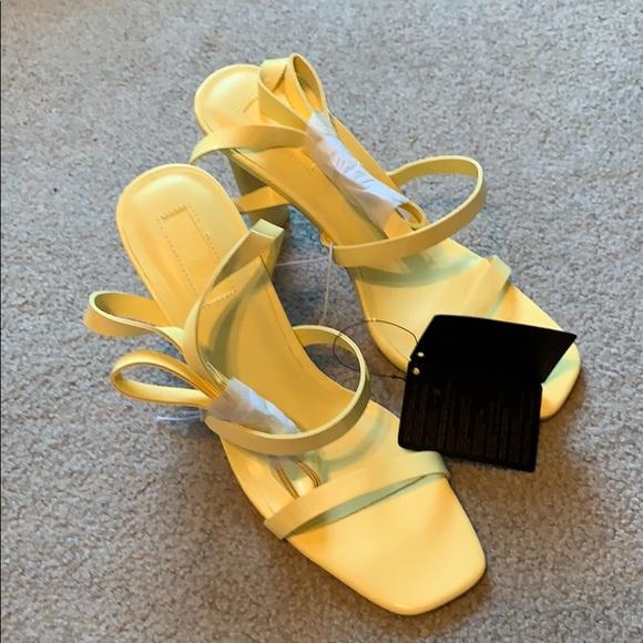 Yellow Sandal Heels   Poshmark